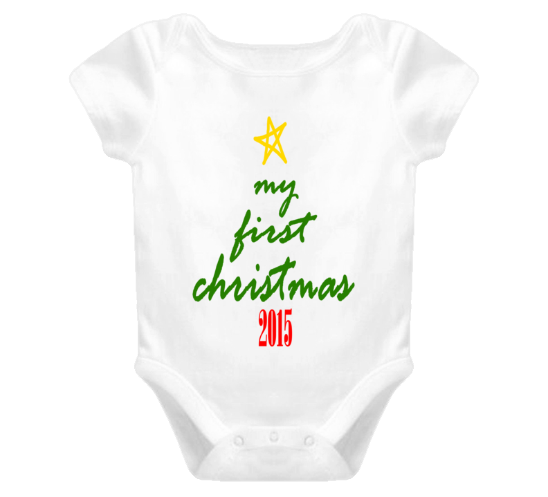 My First Christmas Cute Baby One Piece Boy or Girl 1st ...