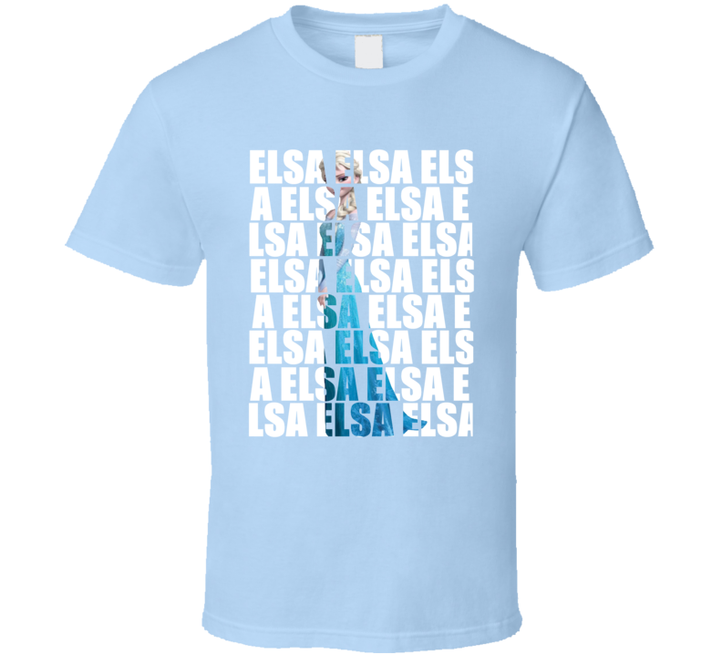 Elsa Frozen Girls Light Blue T Shirt
