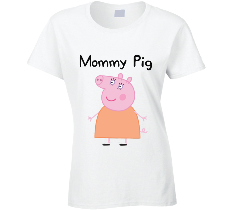 Peppa Pig Family Set T Shirts Customize to Any Name Kids Cartoon Popular Show T Shirt