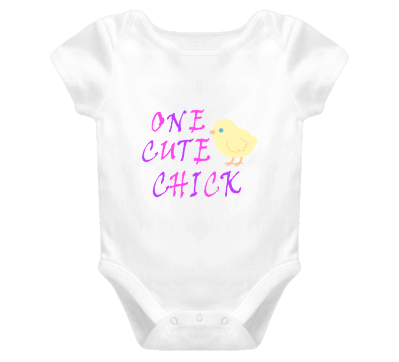 One Cute Chick Baby One Piece Easter T Shirt for Baby