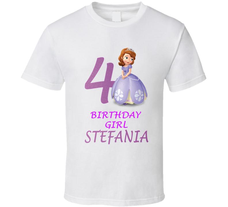 Sofia princess birthday girl t shirt custom bithday girl for Vista print tee shirt