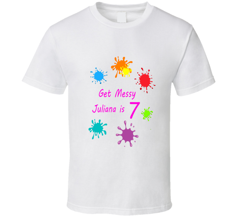 Get Messy Paint birthday party personalized t shirt
