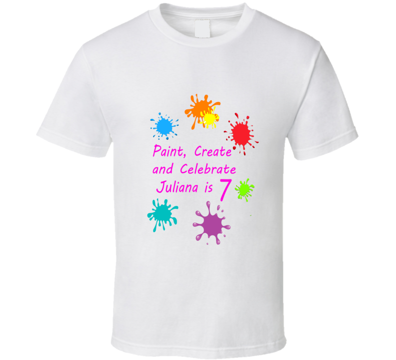 Paint crate and celebrate personalized paint art birthday t shirt