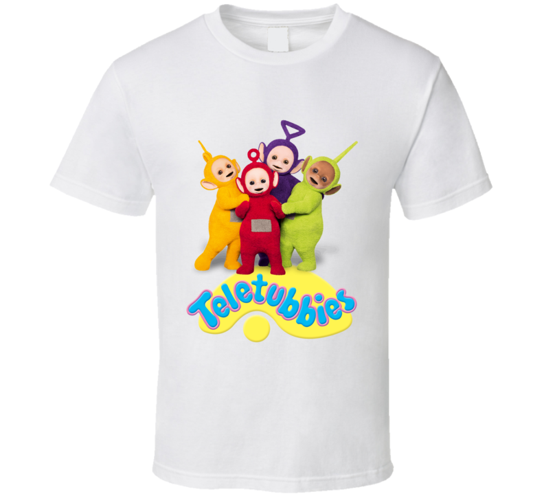 Teletubbies TV Show Childrens Favourite Family Channel Tinkie Winkie Dipsy Lala Po T Shirt
