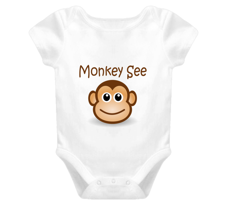 Monkey See funny baby onesie