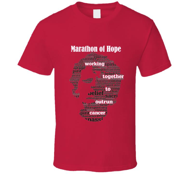 Terry Fox Marathon of Hope T Shirt Custom Order