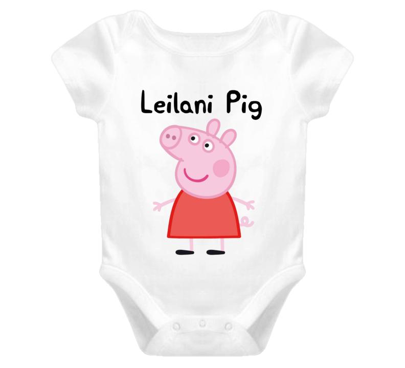 Custom Peppa Pig order Shirt Leilani First Birthday One Piece