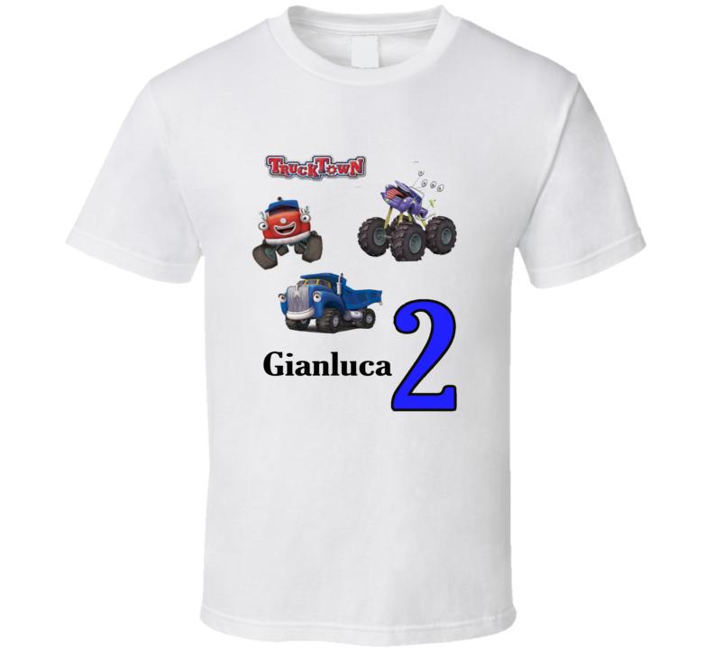 boy birthday trucktown custom t shirt
