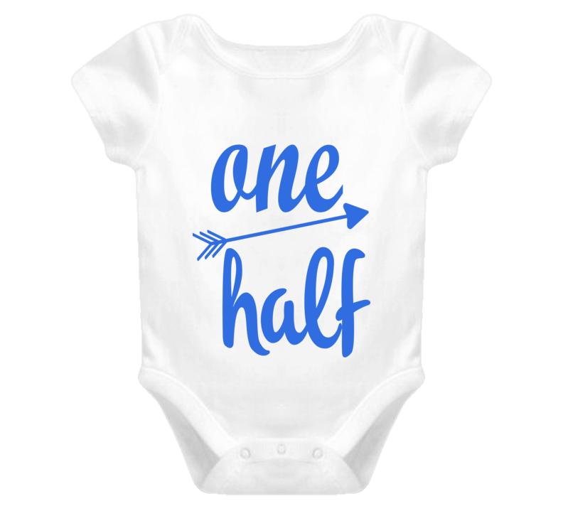 Custom Boy One Half Arrow Shirt 6 Months Baby One Piece