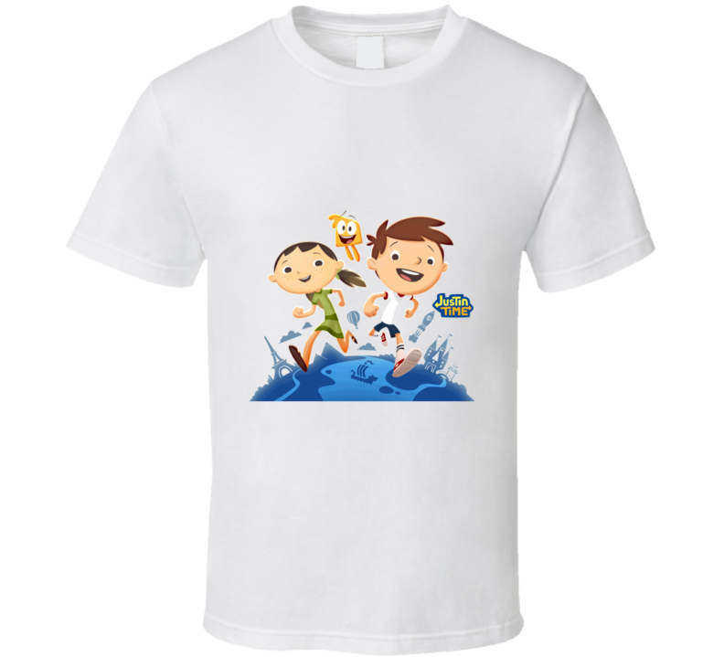 Justin Time Disney Junior Go Olive Squidgy TV Kids and Toddler Show T Shirt