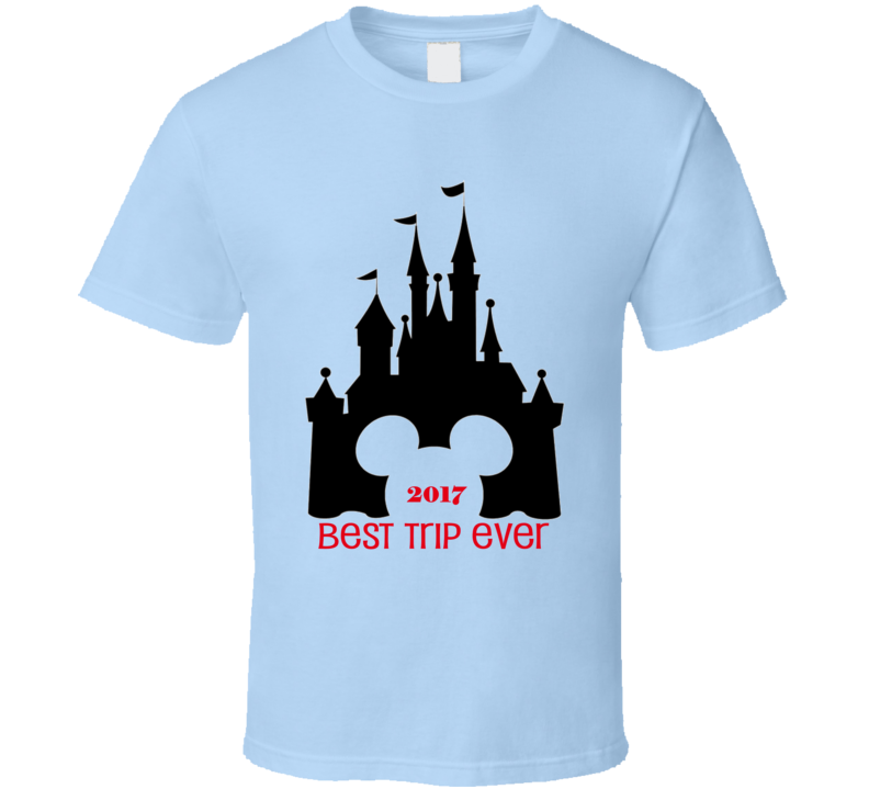 Disney World Best Trip Ever Mickey and Minnie Magic Castle Customized Year Kids and Toddler TShirt