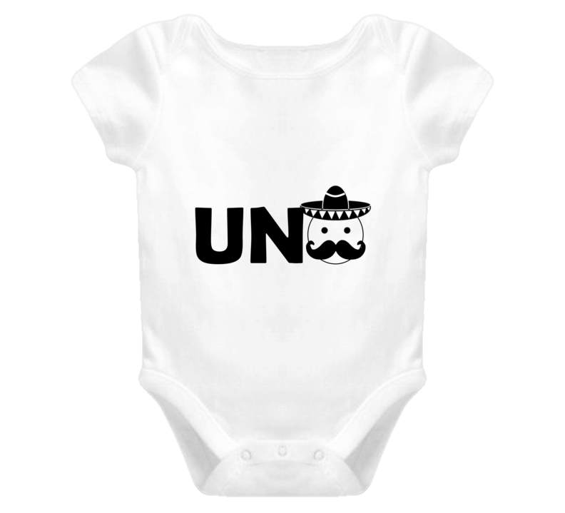 Uno First Birthday Mexican Fiesta Baby Boy or Girl 1st Bday Cake Smash Outfit Baby One Piece