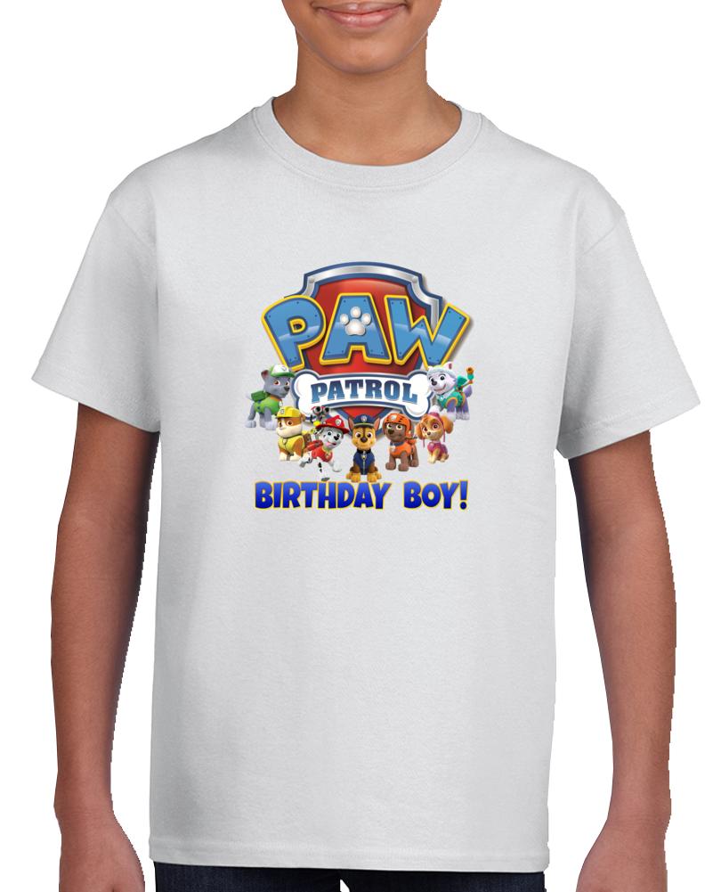 Paw Patrol Birthday Boy Personalized Family Tshirts Nick Jr. T Shirt