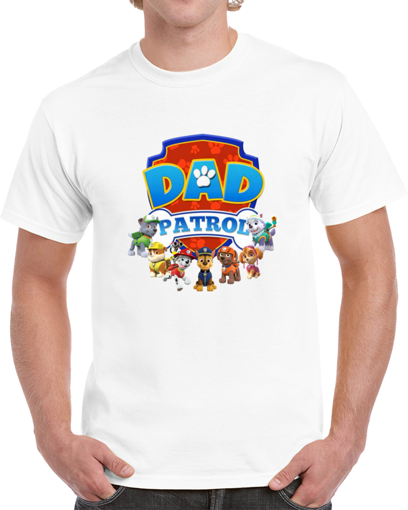 Dad Paw Patrol Birthday  Personalized Family Tshirts Nick Jr. Dad Of The Birthday Boy Or Girl  T Shirt