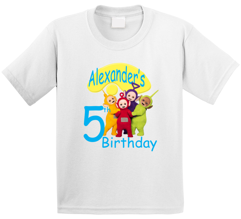 Custom Teletubbies T Shirt Birthday