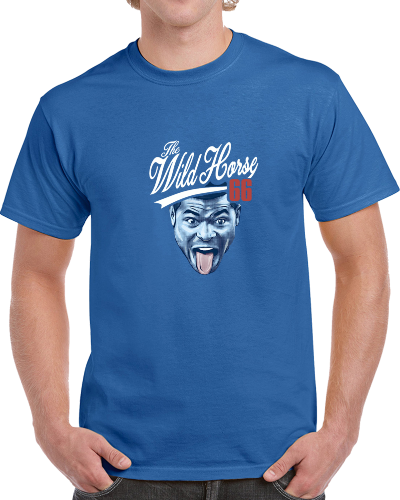 Cool Wild Horse Puig Yasiel World Series Los Angeles Dodgers Baseball Player  Blue Tshirt