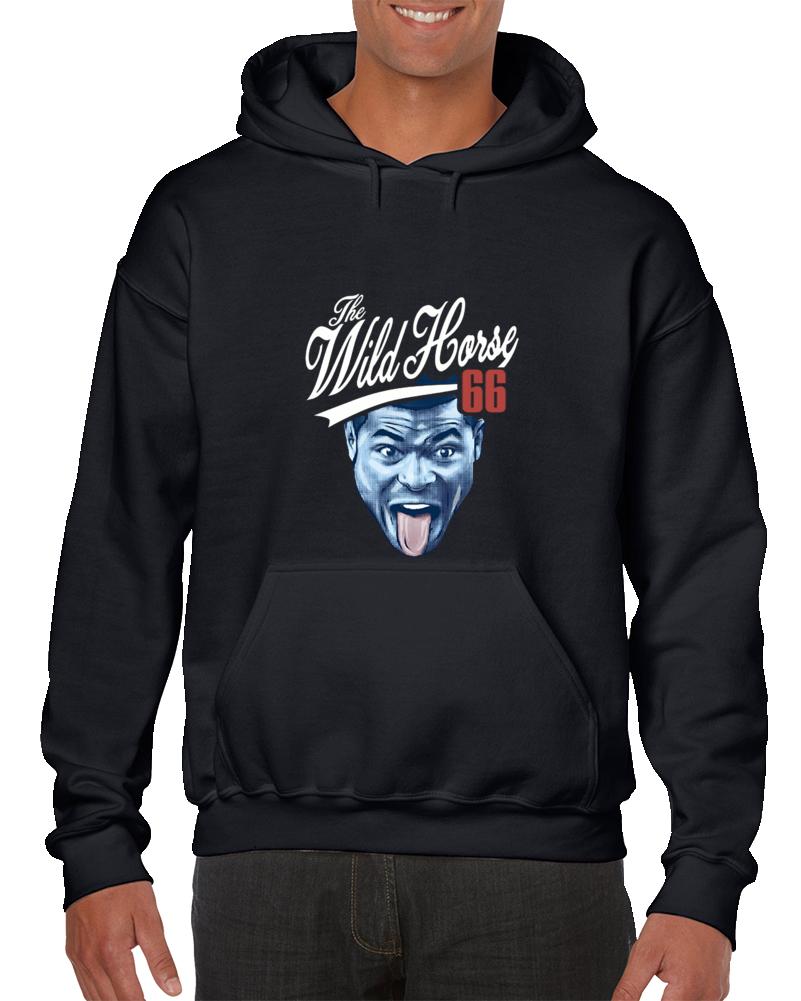 Cool Wild Horse Puig Yasiel World Series Los Angeles Dodgers Baseball Player Hooded Pullover Black  Tshirt