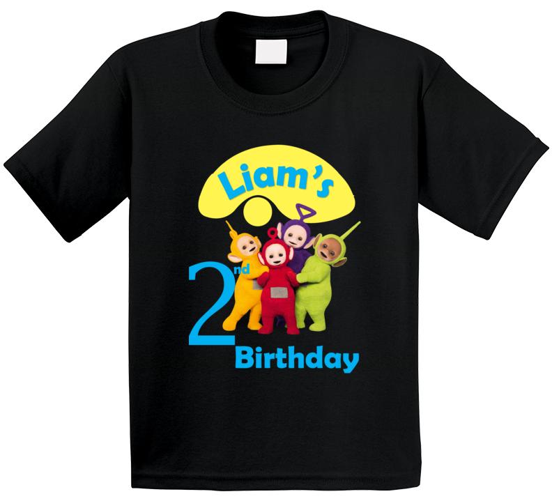 Custom Creation Teletubbies Second Birthday Shirt