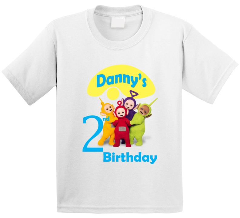 Teletubbies Custom Shirt Kids Birthday Toddler Bday