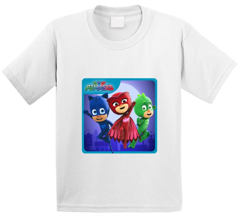 Pj Masks Specialty Tshirt Kids Birthday Didsney Jr. Show Catboy Owlette Gekko