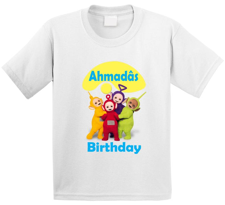 Customized Teletubbies Shirt Birthday Party