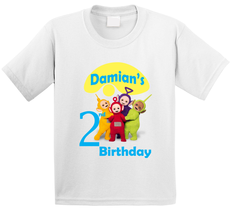Custom Teletubbies Birthday Shirt