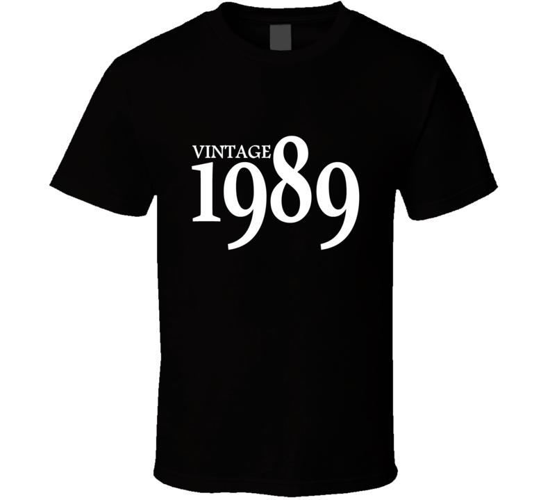 Vintage 1989 30th Birthday Mens And Womens Custom Thirty T Shirt
