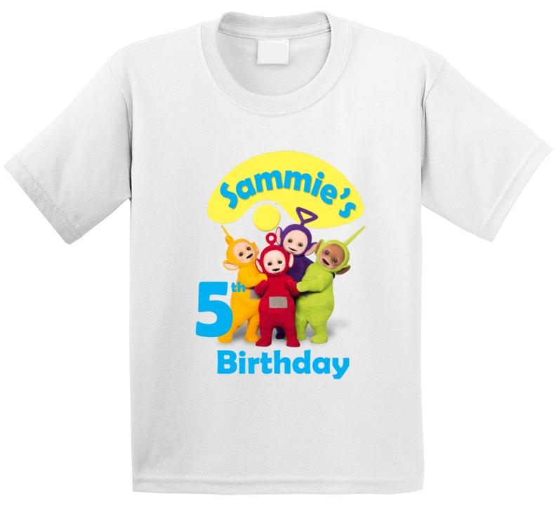 Custom Teletubbies Tshirt- Sammie Birthday T Shirt