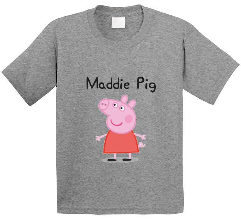 Custom Maddie Pig Popular Tv Show Peppa Pig Character T Shirt
