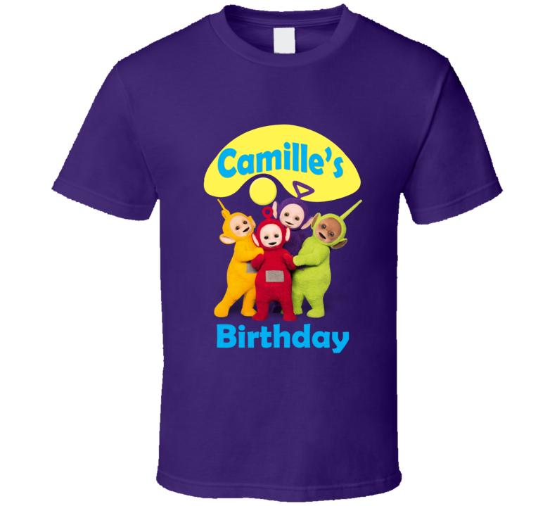 Custom Birthday Shirt Camille Teletubbies Popular Tv Kid Show T Shirt