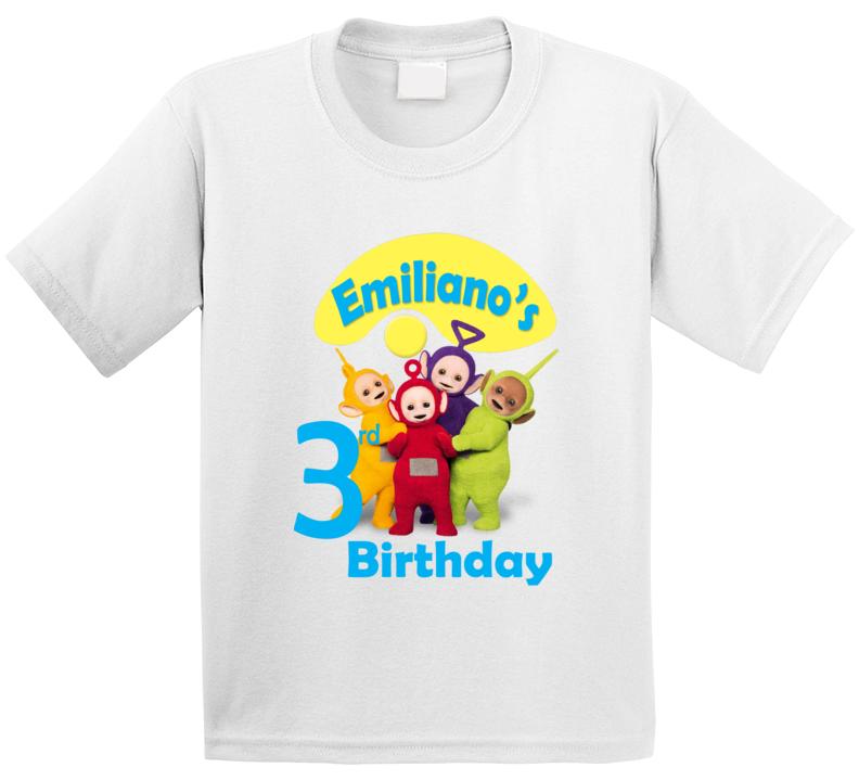 Custom Teletubbies Birthday Shirt Kids Birthday Tv Show Treehouse  T Shirt