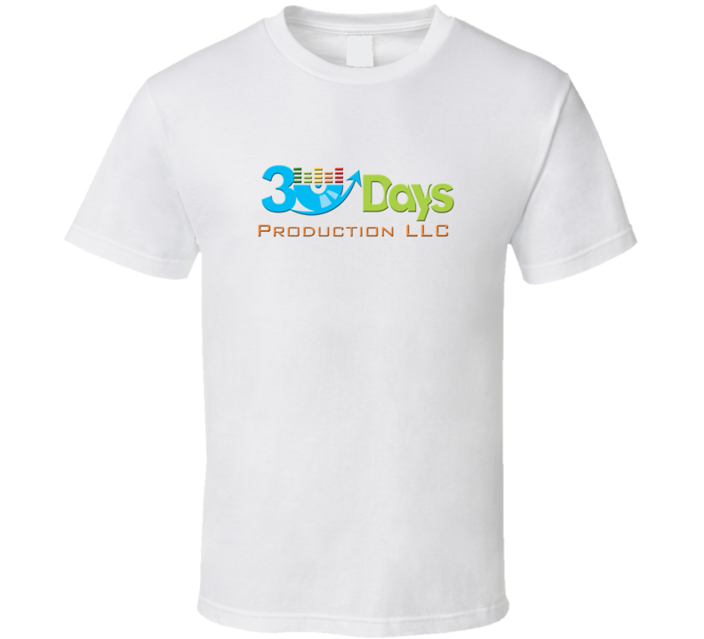 White 30 Days Production Official T Shirt