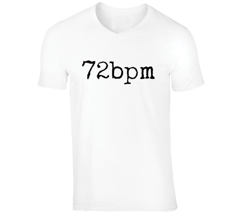 72bpm Music V-Neck Shirt (Big Text)