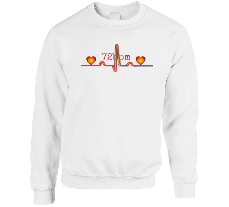 72bpm Heart-Rate Crewneck Sweatshirt