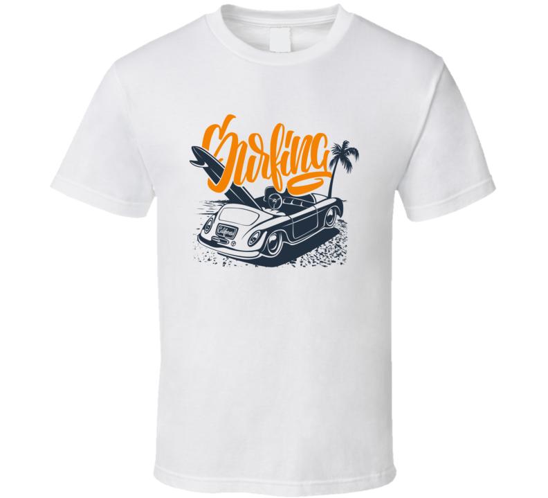 Surfing Car Beetle T Shirt