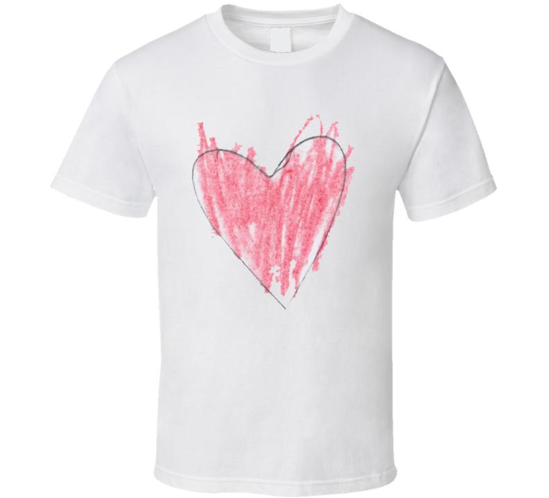 Doodle Heart T Shirt