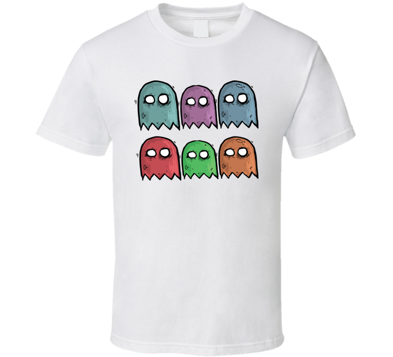 Colorful Ghost T Shirt