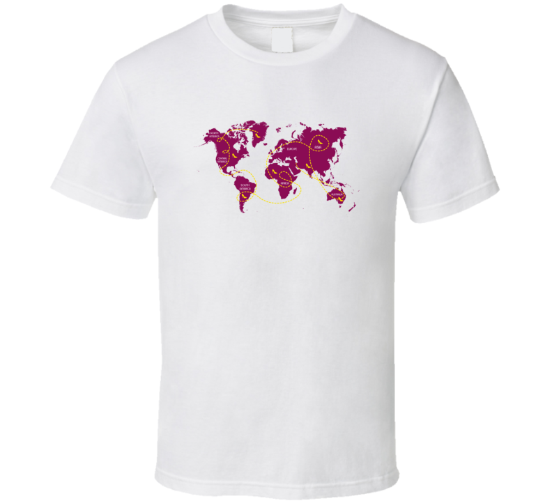 World Map Traveller T Shirt