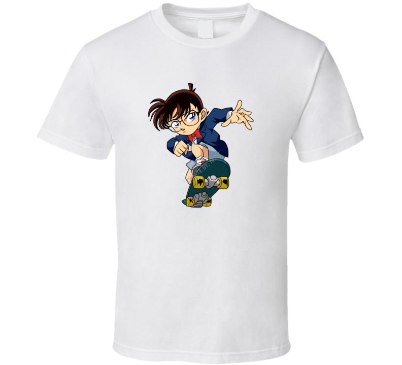 Detective Conan Skateboard Anime Manga T Shirt
