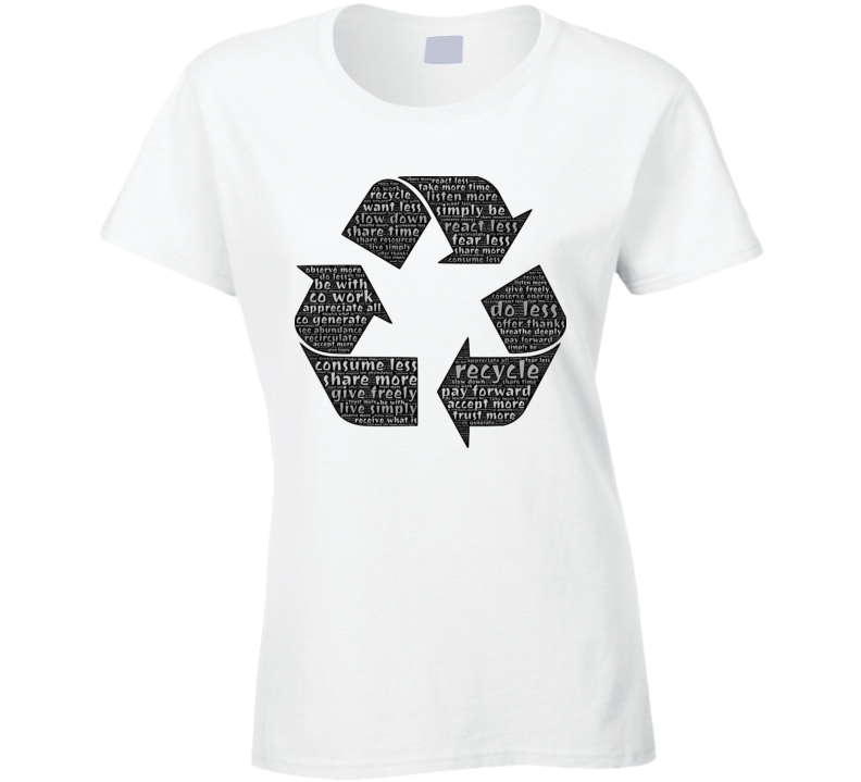 Recycling Typography T Shirt