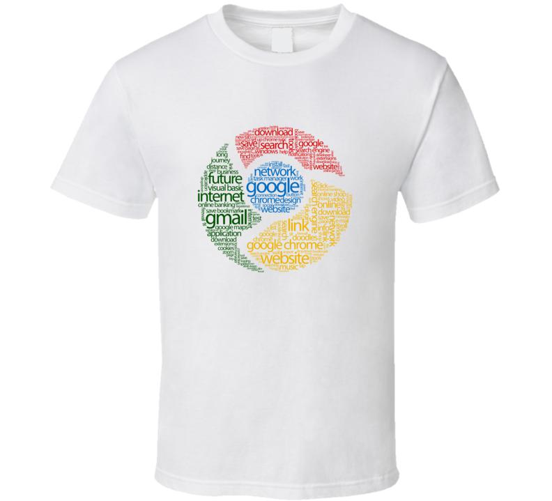 Google Typography T Shirt