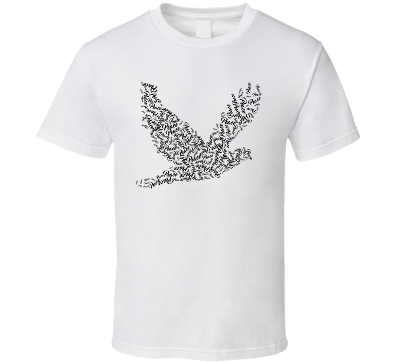 Flying Dove Typography T Shirt