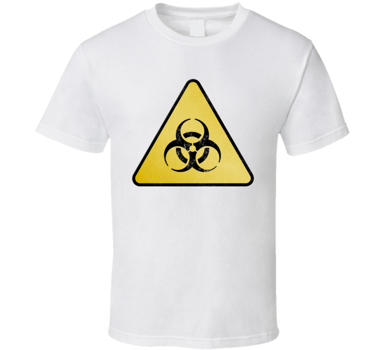 Yellow Biohazard Sign T Shirt