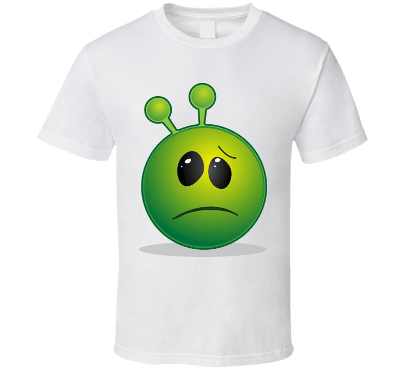 Sad Alien Face T Shirt