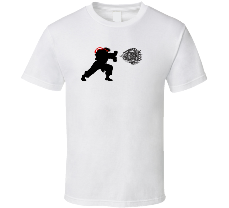 Hadouken ryu street fighter anime T Shirt