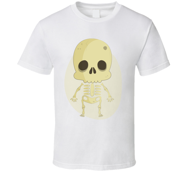 Bone Skull Haloween T Shirt