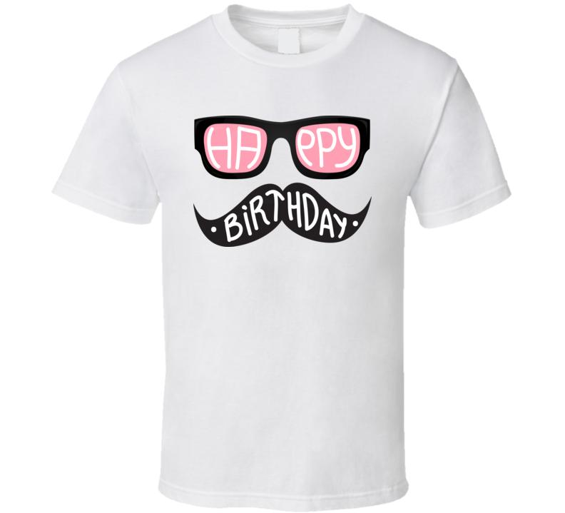 Happy Birthday Hipster T Shirt