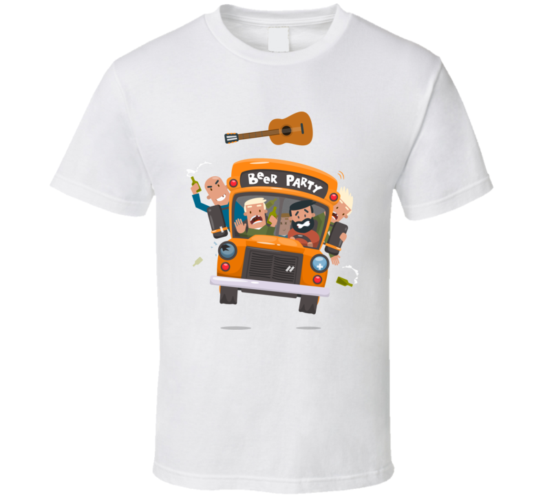Beer Party On The Bus Funny T Shirt