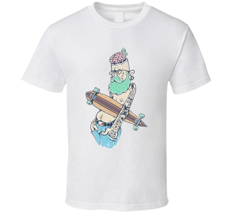 Hipster Skateboard T Shirt