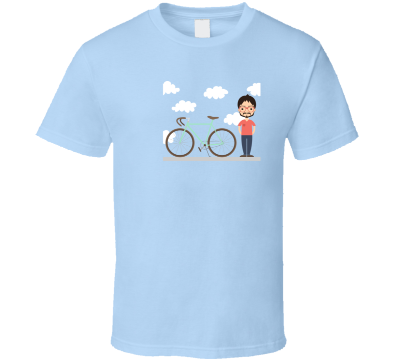 Hipster and his bike T Shirt